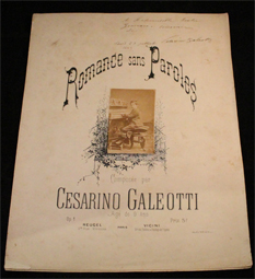 galeotti, romance, sans, paroles, heugel, 1883, original, photographe, partition, score