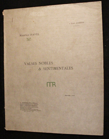 ravel, valses, nobles, sentimentale, original, durand, partition, score