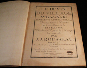rousseau, devin village, boivin, 1753, partition, score, intermede, fontainebleau