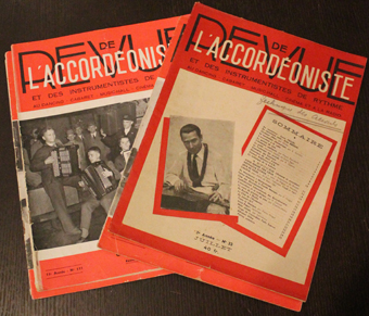 revue accordeon, accordeoniste, 1948, 1955, musique, instrument