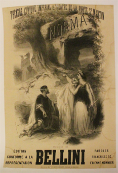 Bellini, norma, france, lithographie, chatiniere, theatre